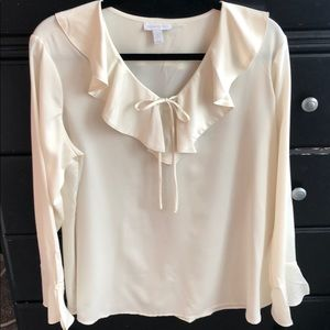 Charter Club Faux Silk Blouse Size Large
